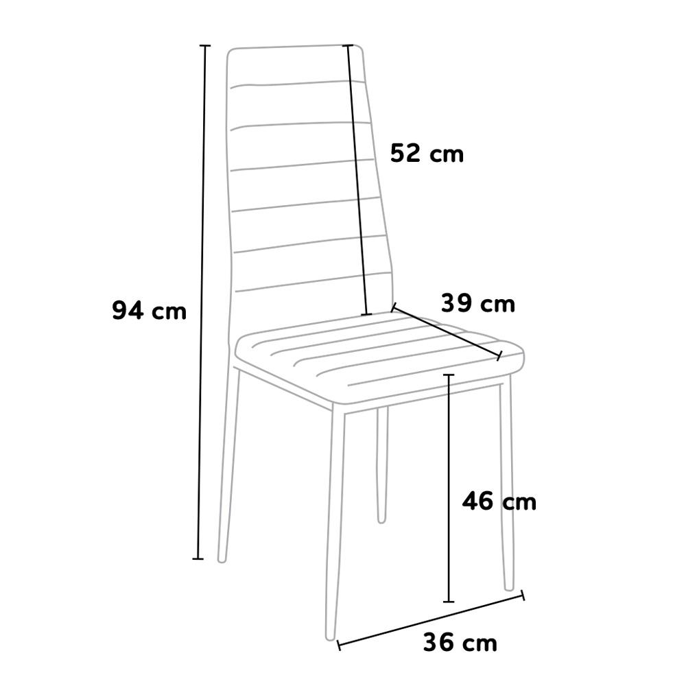 6 sedie in similepelle per cucina ristorante bar con gambe - Dimensioni sedia ...