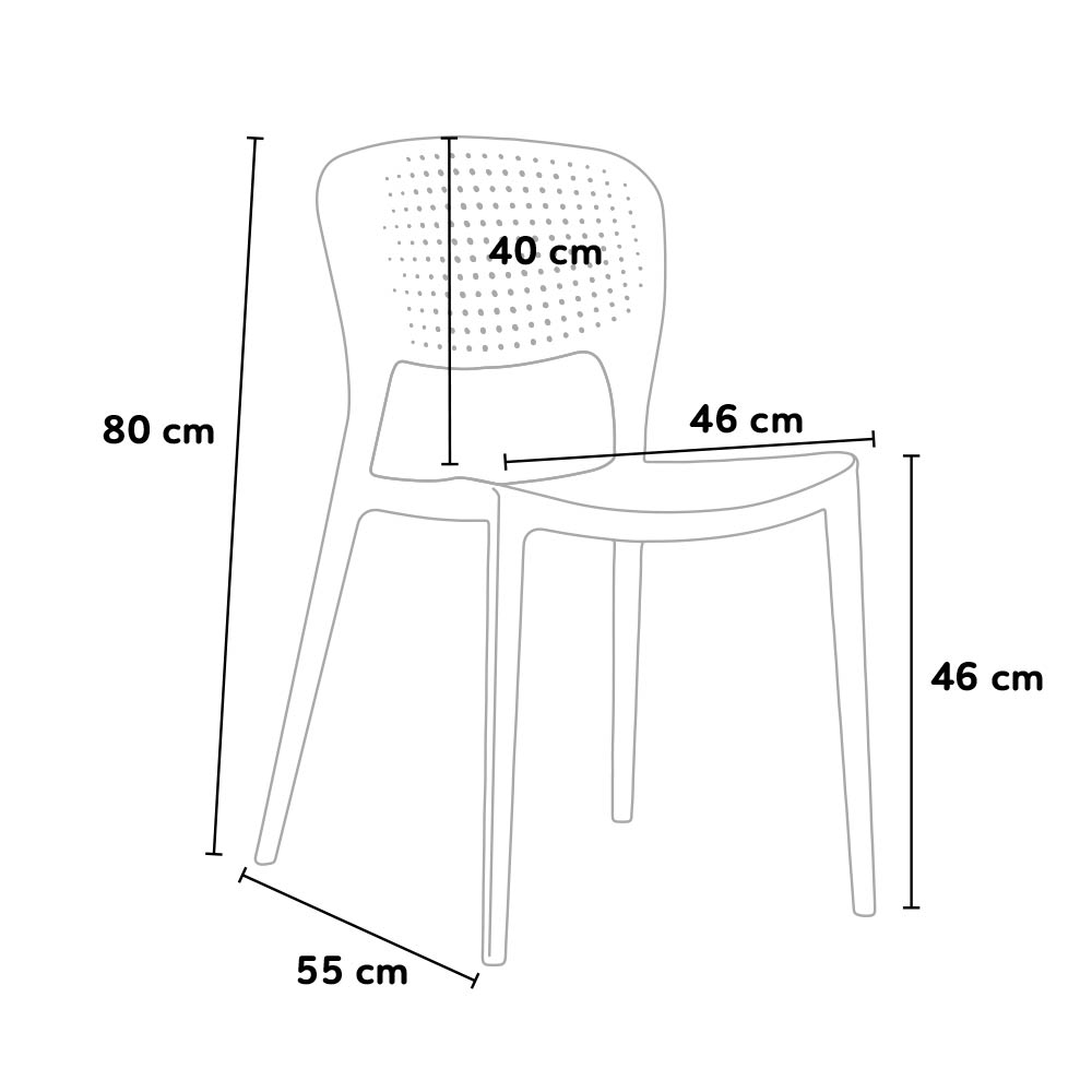 dimensioni sedia da giardino