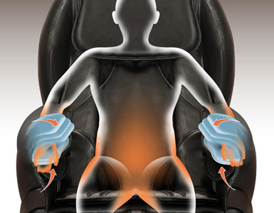 poltrona massaggio braccia