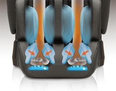poltrona massaggio piedi