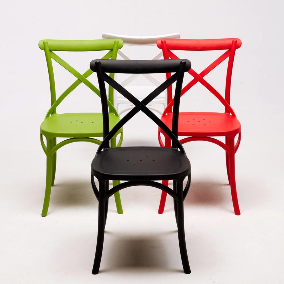 Sedie vintage colorata design moderno simile a crossback for Sedie vintage design