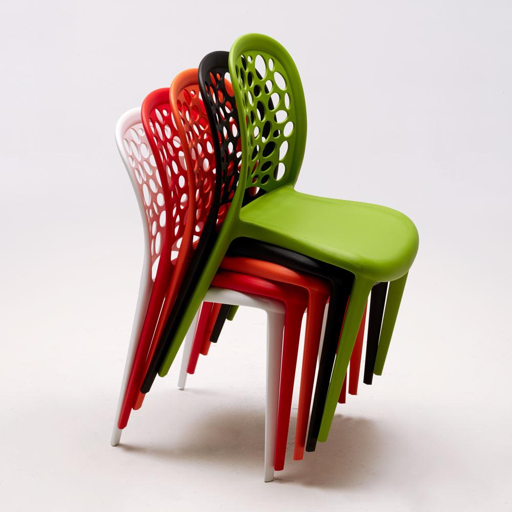 sedie per bar impilabili